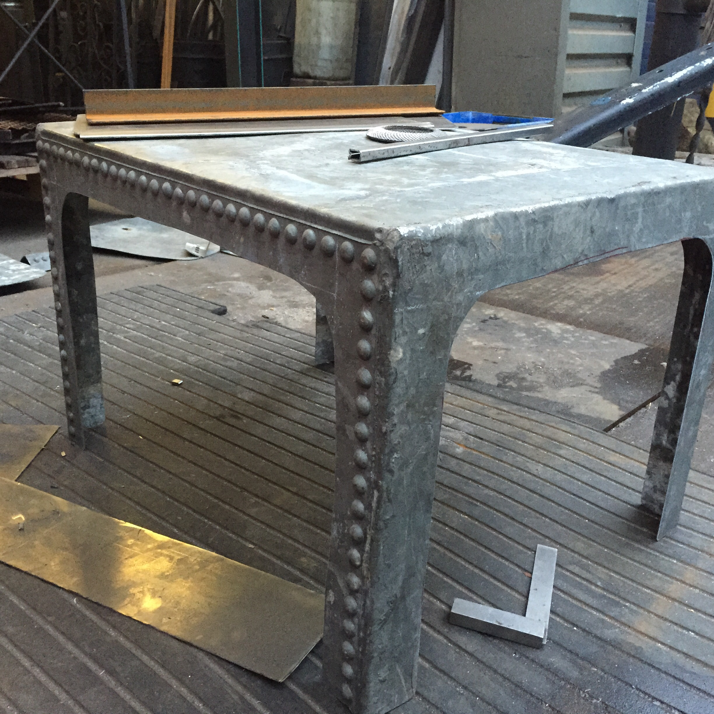 Water tank coffee table – furniture and metalwork built to order…